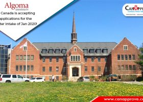 Algoma University in Canada is accepting applications for the winter intake of Jan 2020!