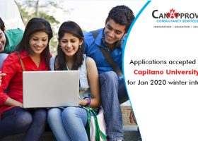 Applications for winter intake 2020 are accepted at Capilano University in the British Columbia region of Canada.